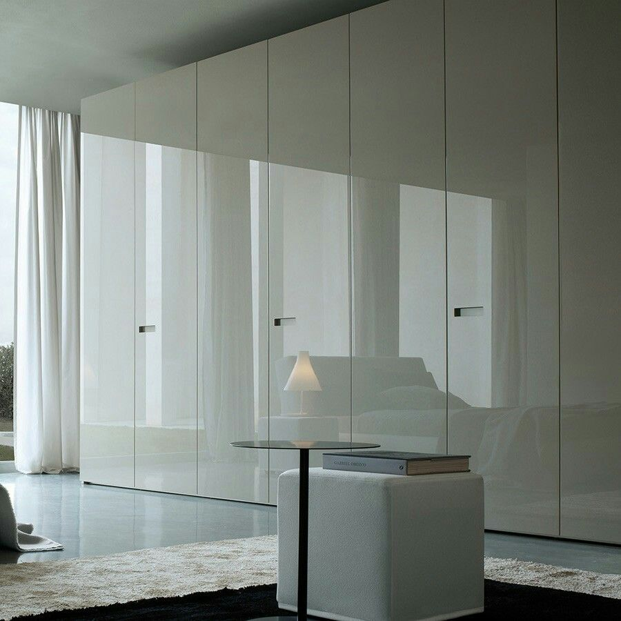 High Gloss Bedroom Cupboards Lemon Bedroom Accessories Toddler Bedroom Curtains Black And White Bedroom Cupboard Designs: Wall To Wall Storage In High Gloss Cabinet Fronts. Would