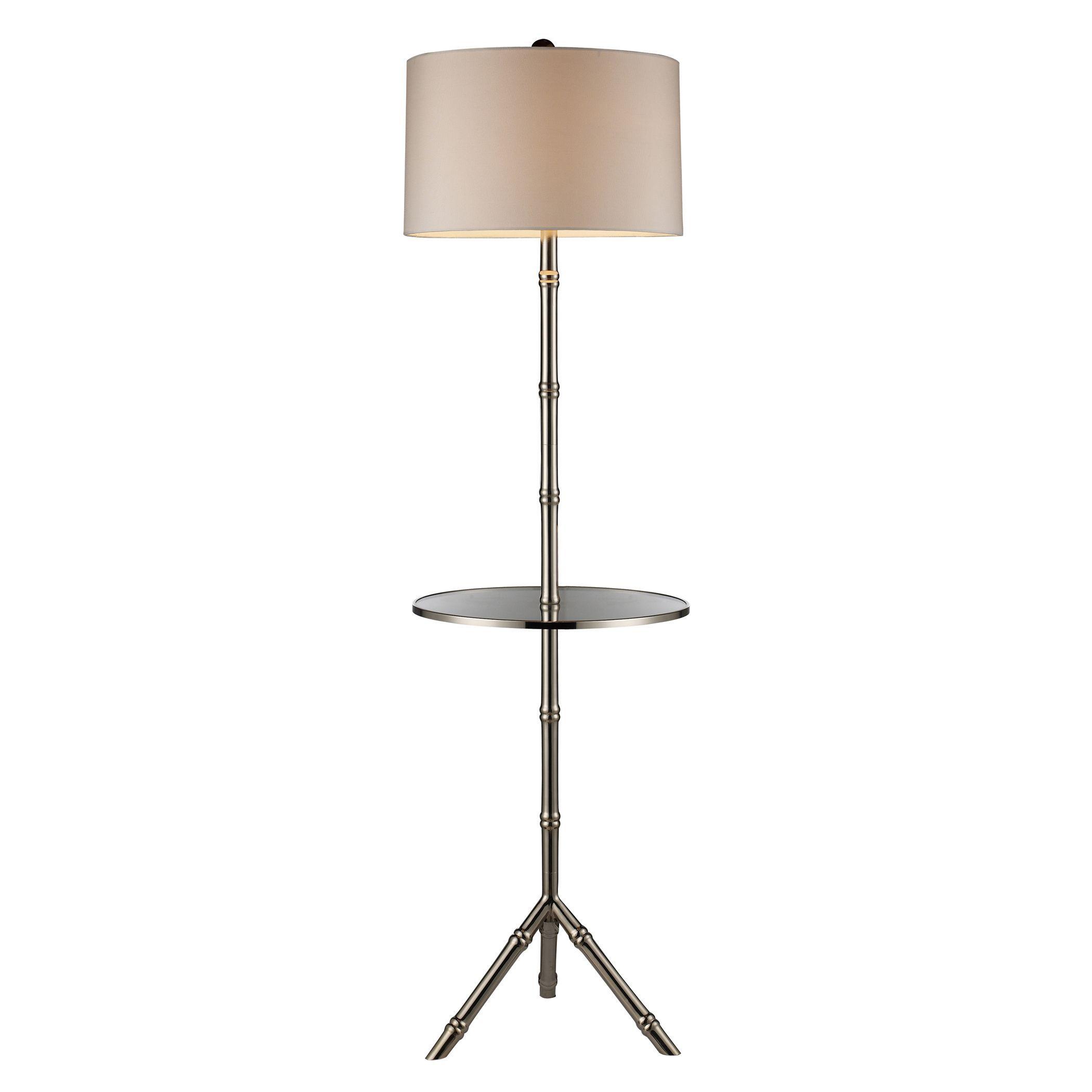 Dimond Lighting 1 Light Silver Plated Modern Floor Lamp 150 Watt