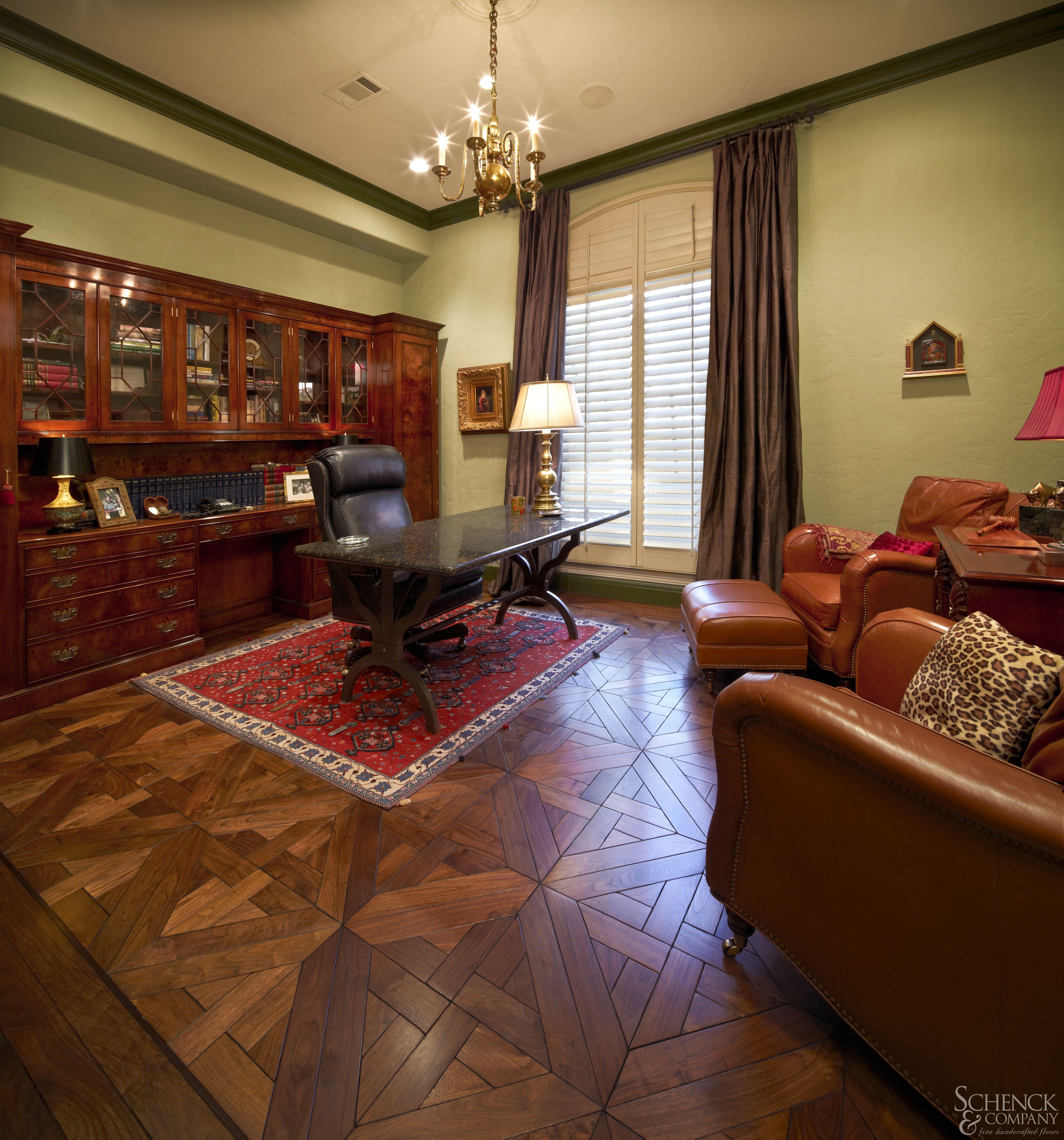 By Schenck And Company: #hardwoodflooring #hardwood #flooring #walnut #office