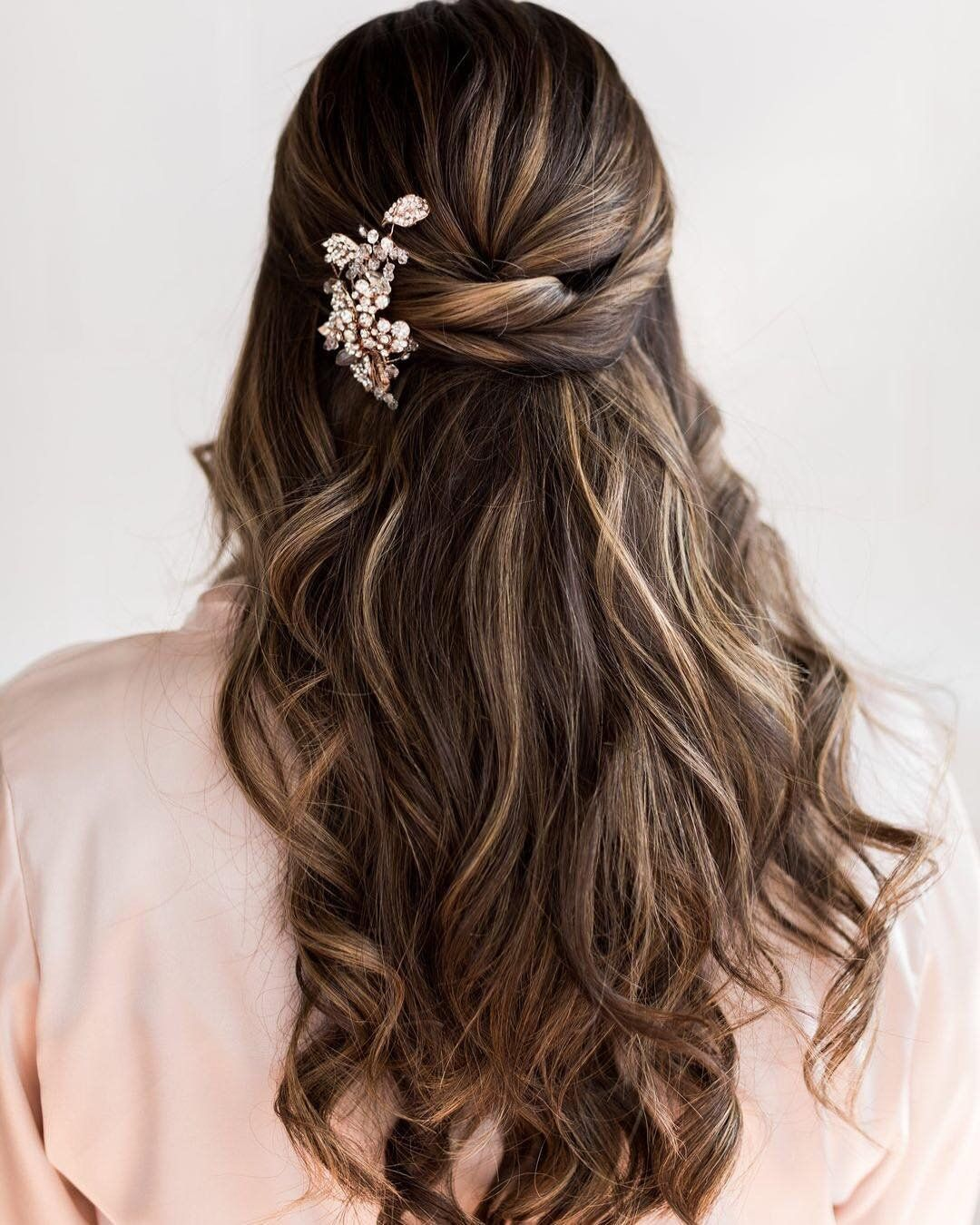 Braided Hairstyles 5 Ideas For Your Wedding Look: How About Soft Waves And A Twisted Half-up Hairstyle For