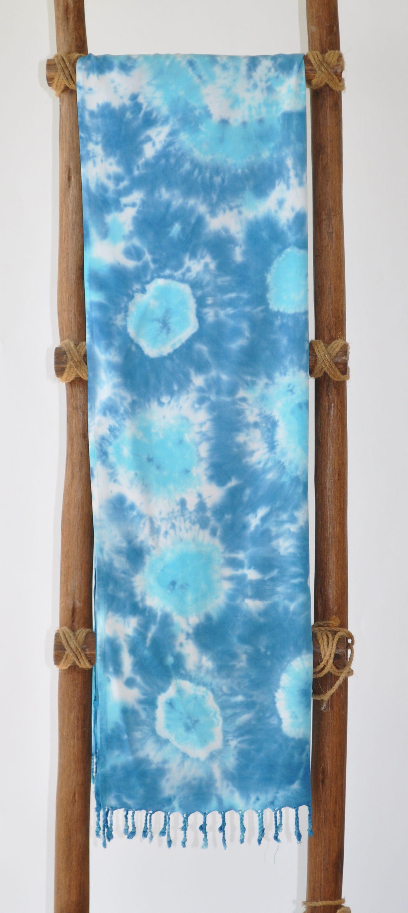 Blue on Blue LiliKai hand dyed Pareo/Sarong/Wrap