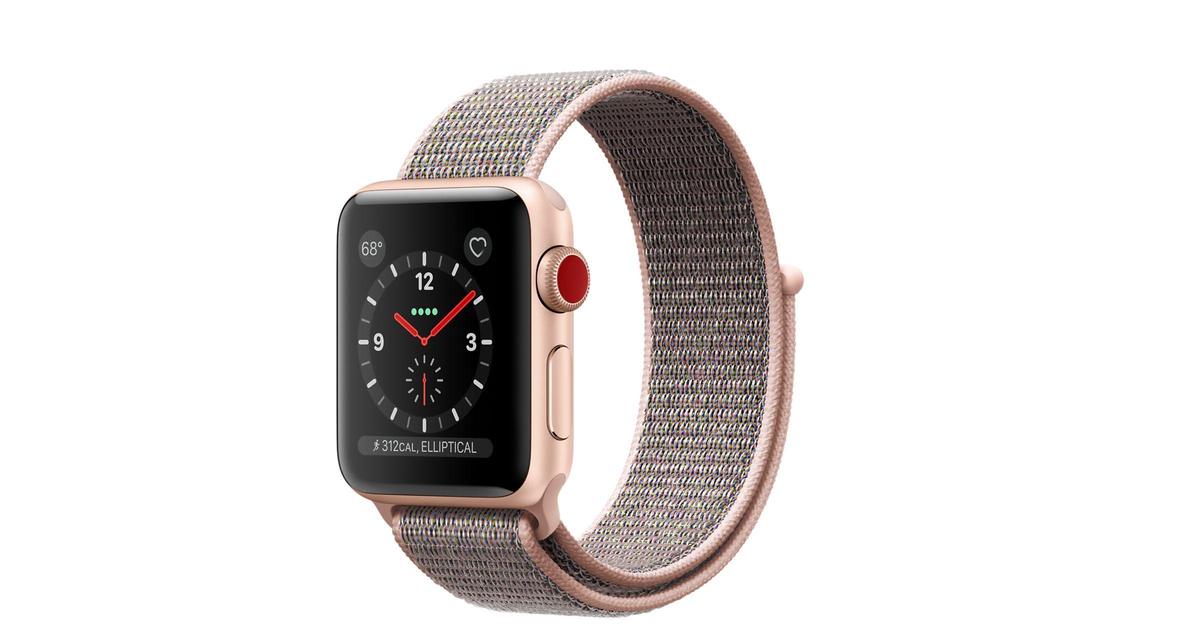 Shop Apple Watch Gold Aluminum Case with lightpink Sport