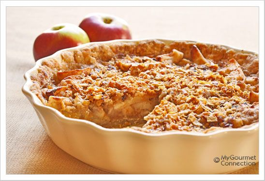 Sour Cream Apple Pie with Norwegian Gjetost: This delicious apple pie uses sour cream and Norwegian gjetost to add a creamy, caramel flavor to a classic favorite.