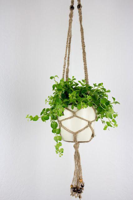 DIY Makramee Blumenampel aus Juteschnur knüpfen Makramee - blumenampel selber machen hangekorb