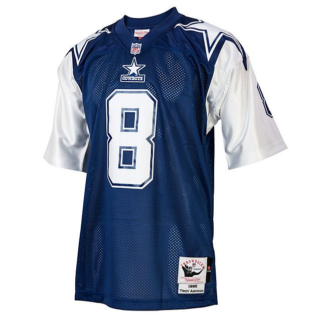 Dallas Cowboys Troy Aikman 1995 Mitchell   Ness Double Star Jersey ... 5963538b0