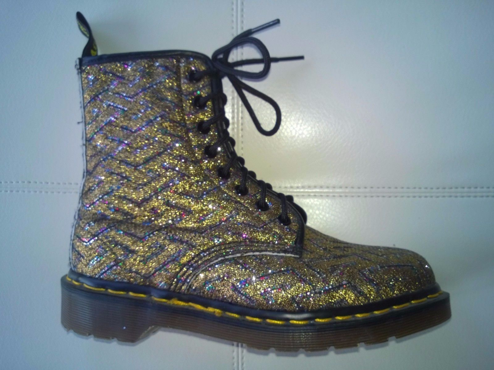 Doc Dr Made Vintage Glitter Gold Boot Martens In Rare 5RjAq4Lc3