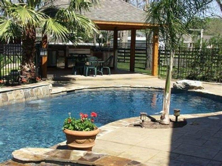 15 Inspiring Backyard Patio Ideas With Beautiful Pool Outdoor Backyard Pool Designs Build Outdoor Kitchen