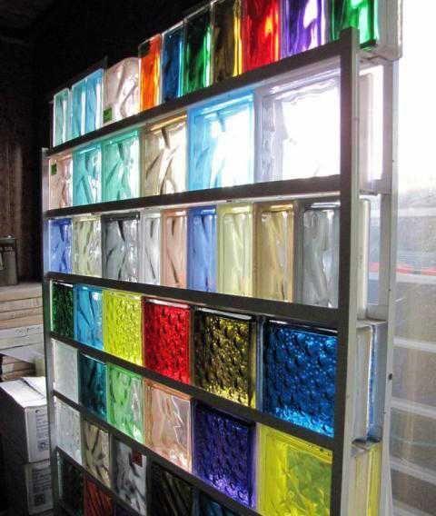 Colored Glass Block Wall Design Glass Blocks Wall Glass Blocks