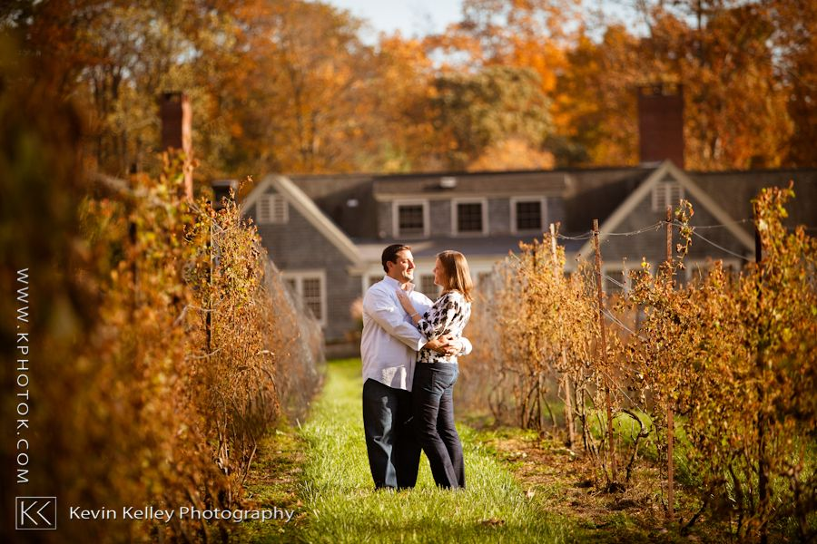 A Fall Connecticut Wedding Engagement Session At Chamard Vineyard In Clinton Ct Photography By