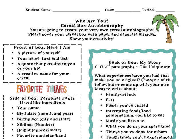 a literacy autobiography my reading and writing experiences Because esl writers' diverse prior writing experiences  i present a writer's autobiography assignment that allows me to know more about my students' literacy.