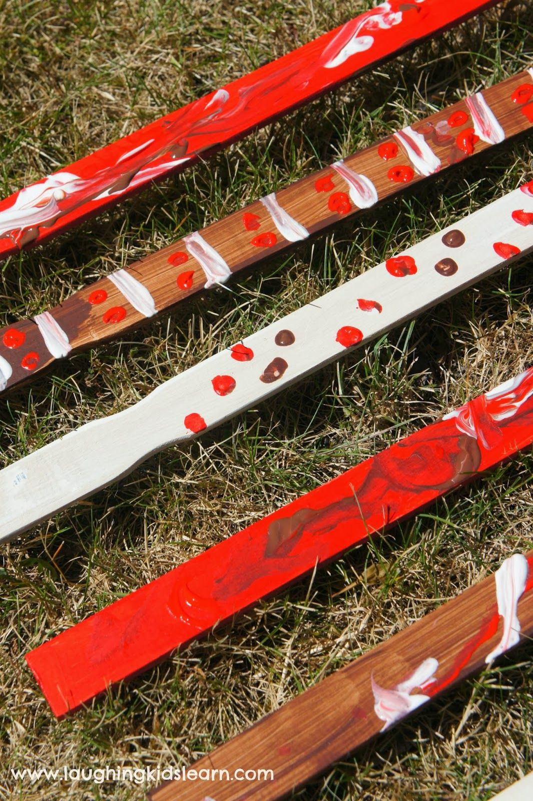 Aboriginal Clapping Sticks Craft