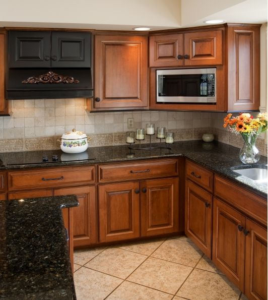 Kitchen Cabinet Restoration - Home and Garden Design Ideas ... on What Color Granite Goes With Honey Maple Cabinets  id=87418