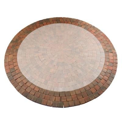 Autumn Blend Dutch Cobble Concrete Paver Circle Expansion Kit 605741AUB