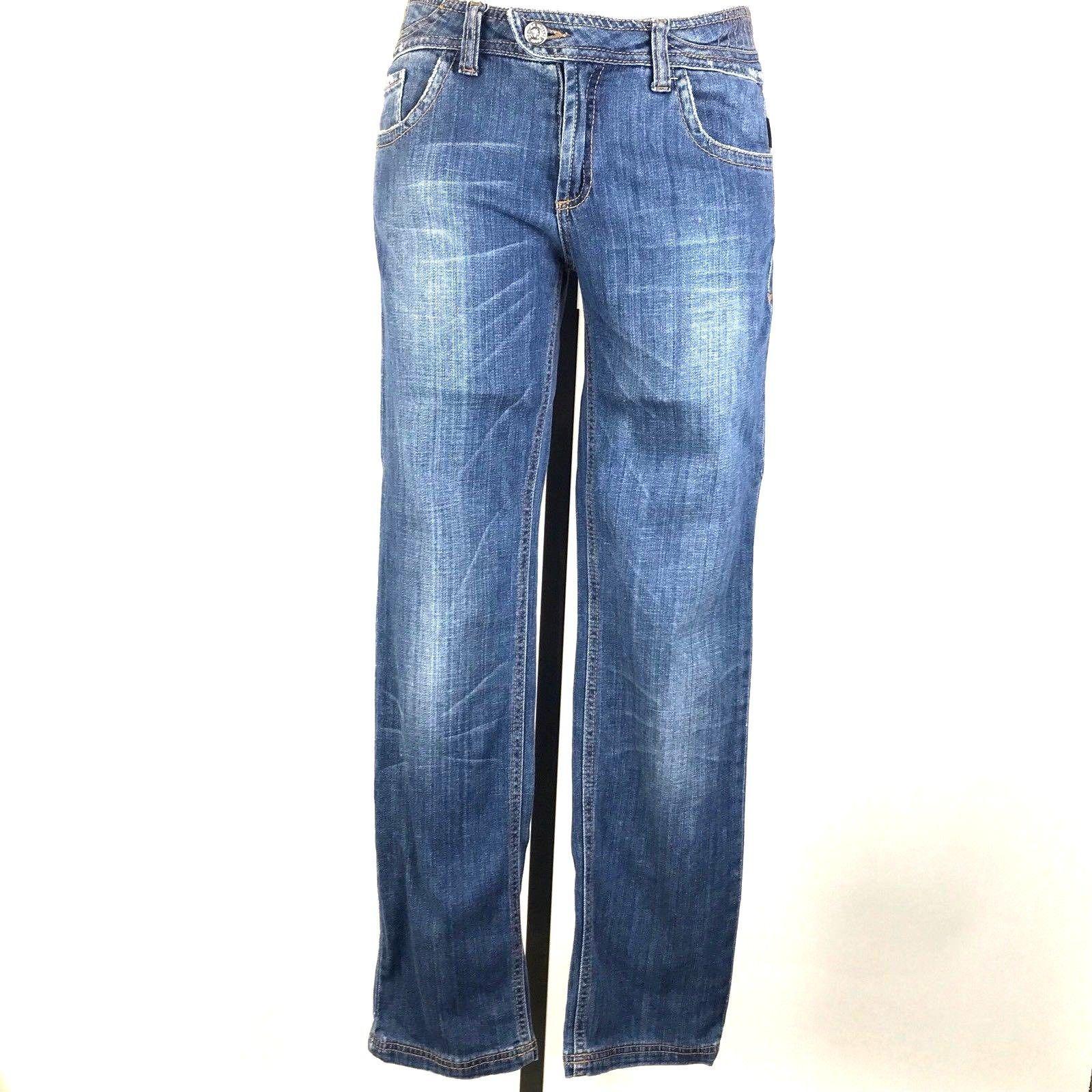 Missy Stretch denim ripped Skinny capri jeans indigo wash free ship WG-619//26291