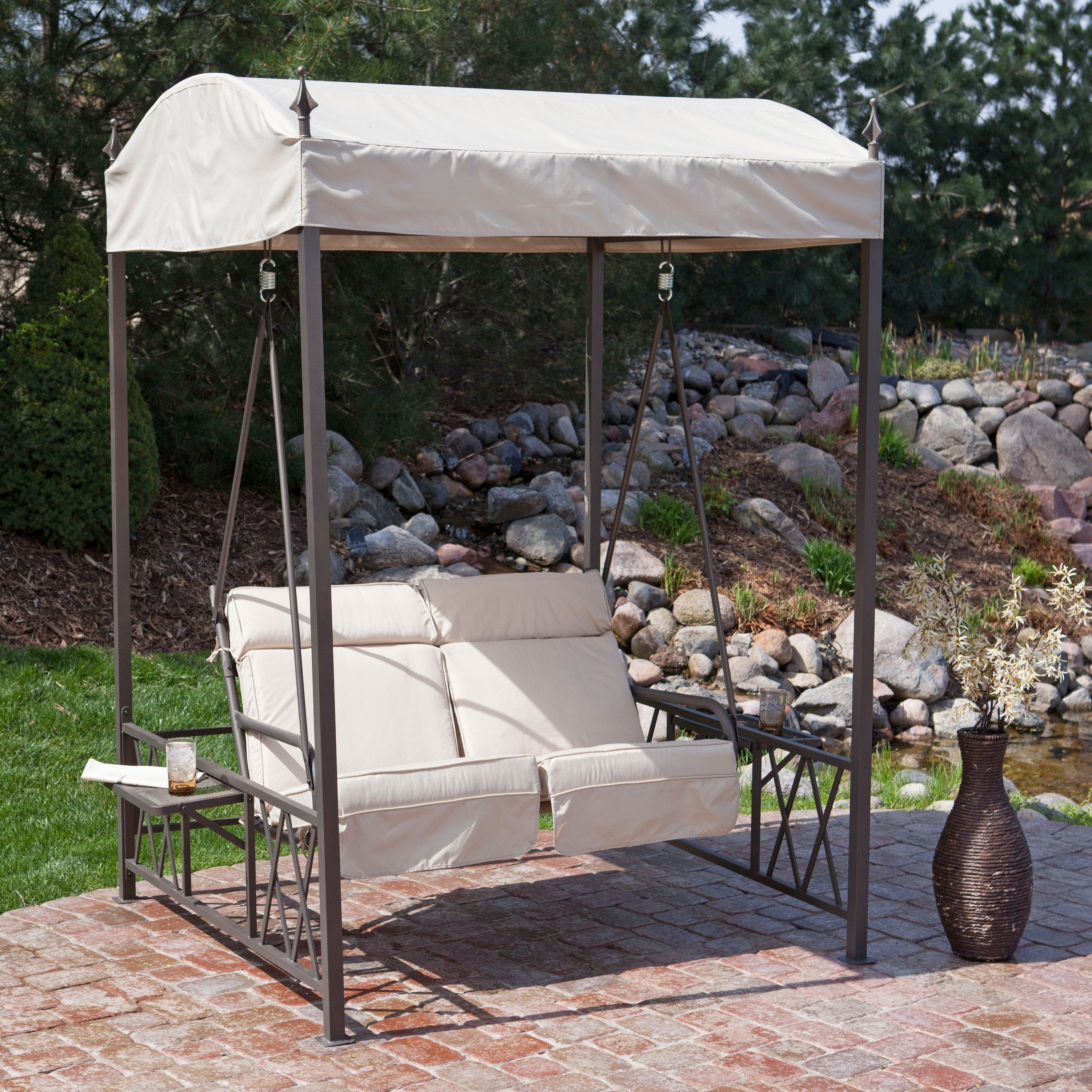 Have To Have It Coral Coast Two Person Gazebo Swing With Side