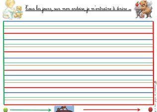 Fabriquer des ardoises effaçable-ecriture-dyspraxie-lignes en couleurs