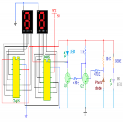 2 - Digit Object Counter Circuit Diagram | Electronic