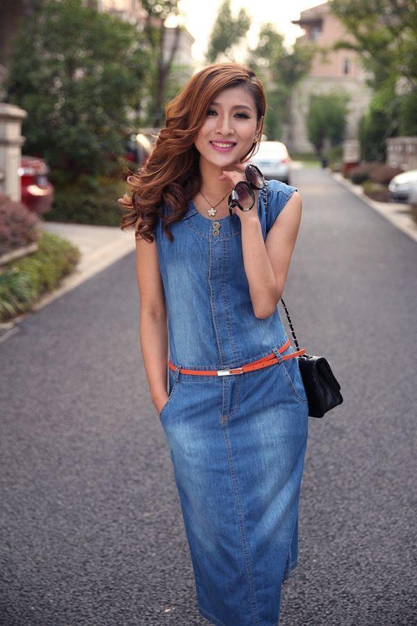 237d6035c12 Летние джинсовые платья 2017 (39 фото)