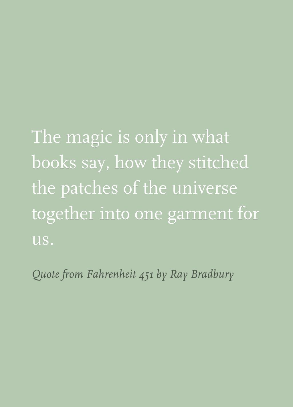 Fahrenheit 451 Quotes About Books Quote From Fahrenheit 451Ray Bradbury  Creative Writing