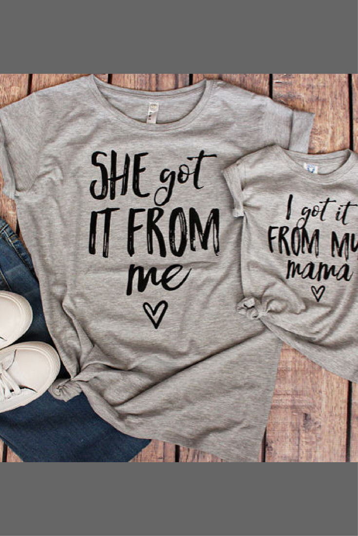 5f7bf937a1 Matching Mother Daughter Outfits, #Mom and #Baby #Matching, Mommy and Me  Outfits #Mother #Daughter Shirts Matching #Outfits I got it from my ...