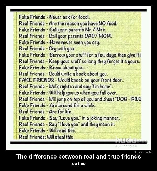 The Difference Between Real Friends Fake Friends Real Friends Friendship Quotes Funny Friends Quotes