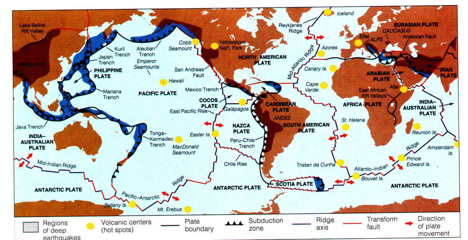 Theory Of Plate Tectonics The Slow Shifting Of The