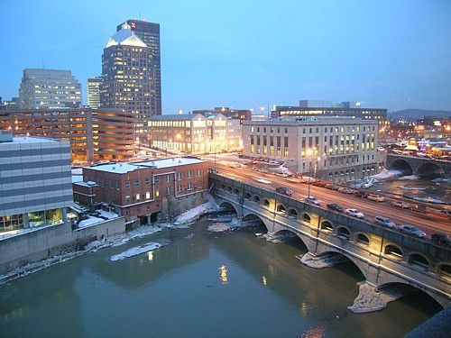 Night Fall In The City Of Rochester Ny Paradise Places Favorite Places Rochester New York