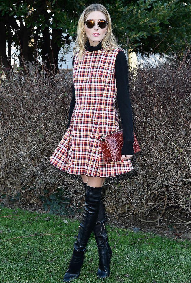 Olivia Palermo at Christian Dior during Paris Fashion Week #Olivia_Palermo #Fashion #Women_Style