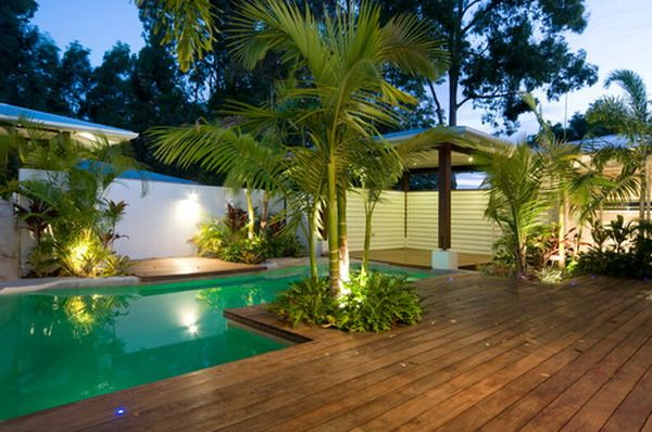 Contemporary Palm Trees Garden Patio Pool Decoration