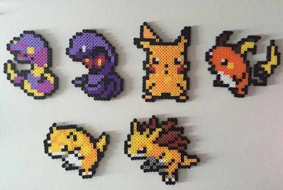 Pokemon Gen 1 23 28 Ekans Arbok Pikachu Raichu