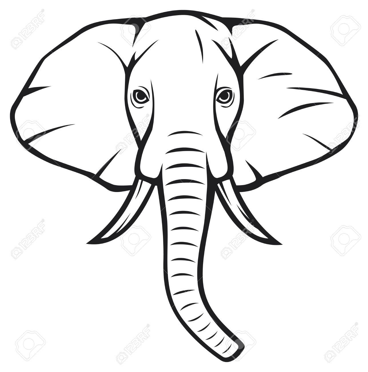 Elephant outline template sok pa google rocks pinterest outlines template and rock art for Google outline template