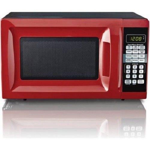 Microwave Oven Countertop Digital Hamilton Beach 0 7 Cu Ft Red 700