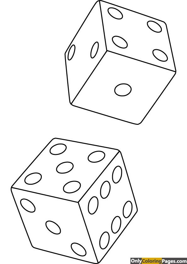 Dice Coloring Page Free Coloring Pages Coloring Pages Free Coloring