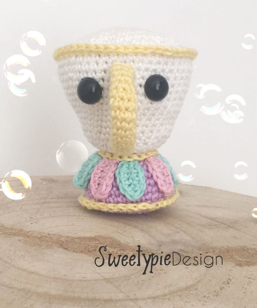 free crochet pattern of chip from beauty and the beast on www ...
