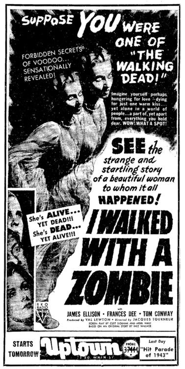 Boris Karloff Horror movie poster print I Walked with a Zombie 1943