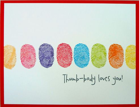 Thumbprint Valentine - cute kid craft or DIY card