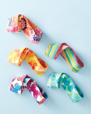 Cute waterproof swim bands for the summer...in case your little is like mine & hates wearing a pony all day in the water.