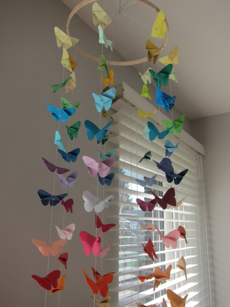 Diy Origami Butterfly Mobile Butterfly Diy Mobile Diy Origami Butterfly Mobile Origami Butterfly Easy Origami Easy Origami Butterfly