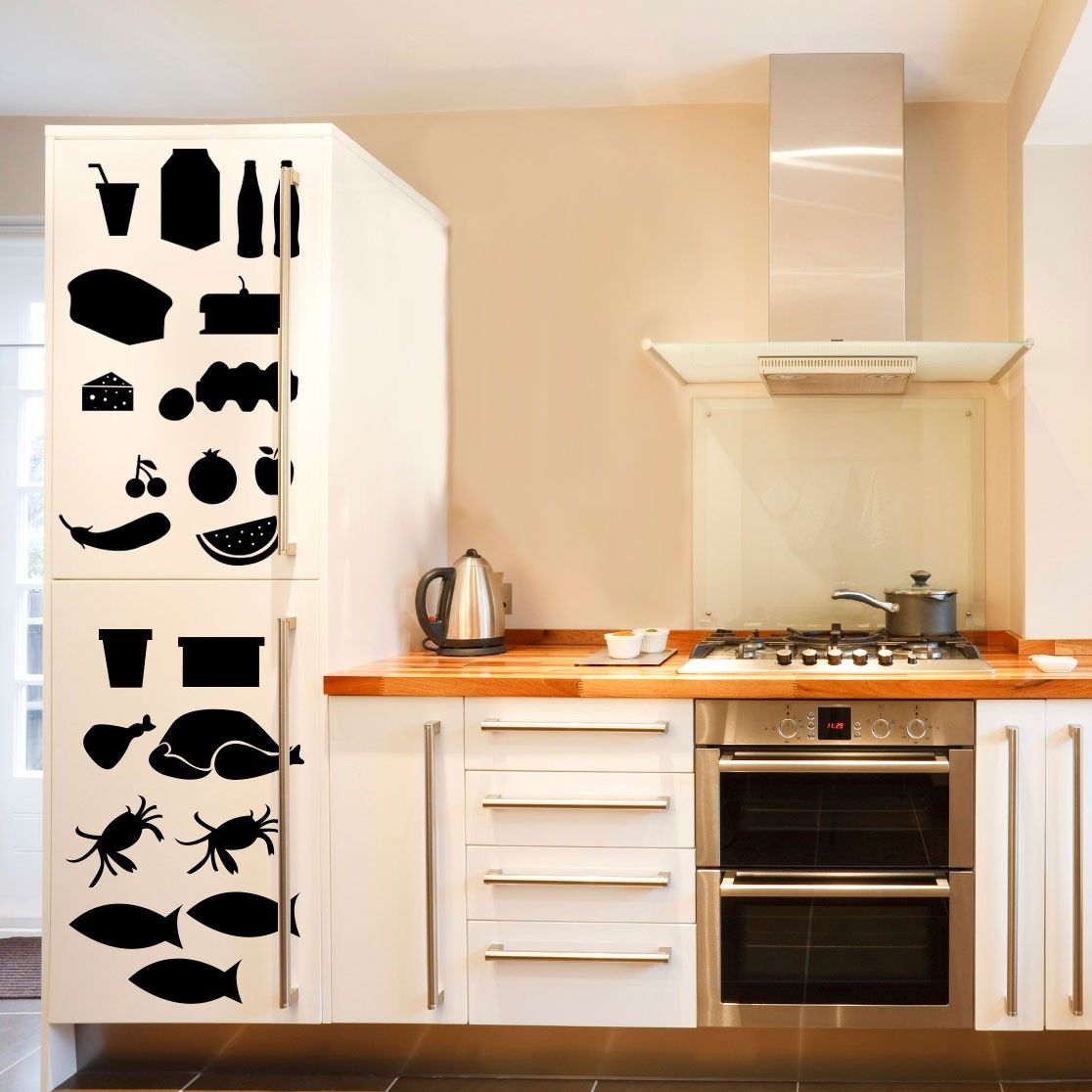 Refrigerator X-RAY - Vinyl Wall Art Decal for Homes, Offices, Kids ...