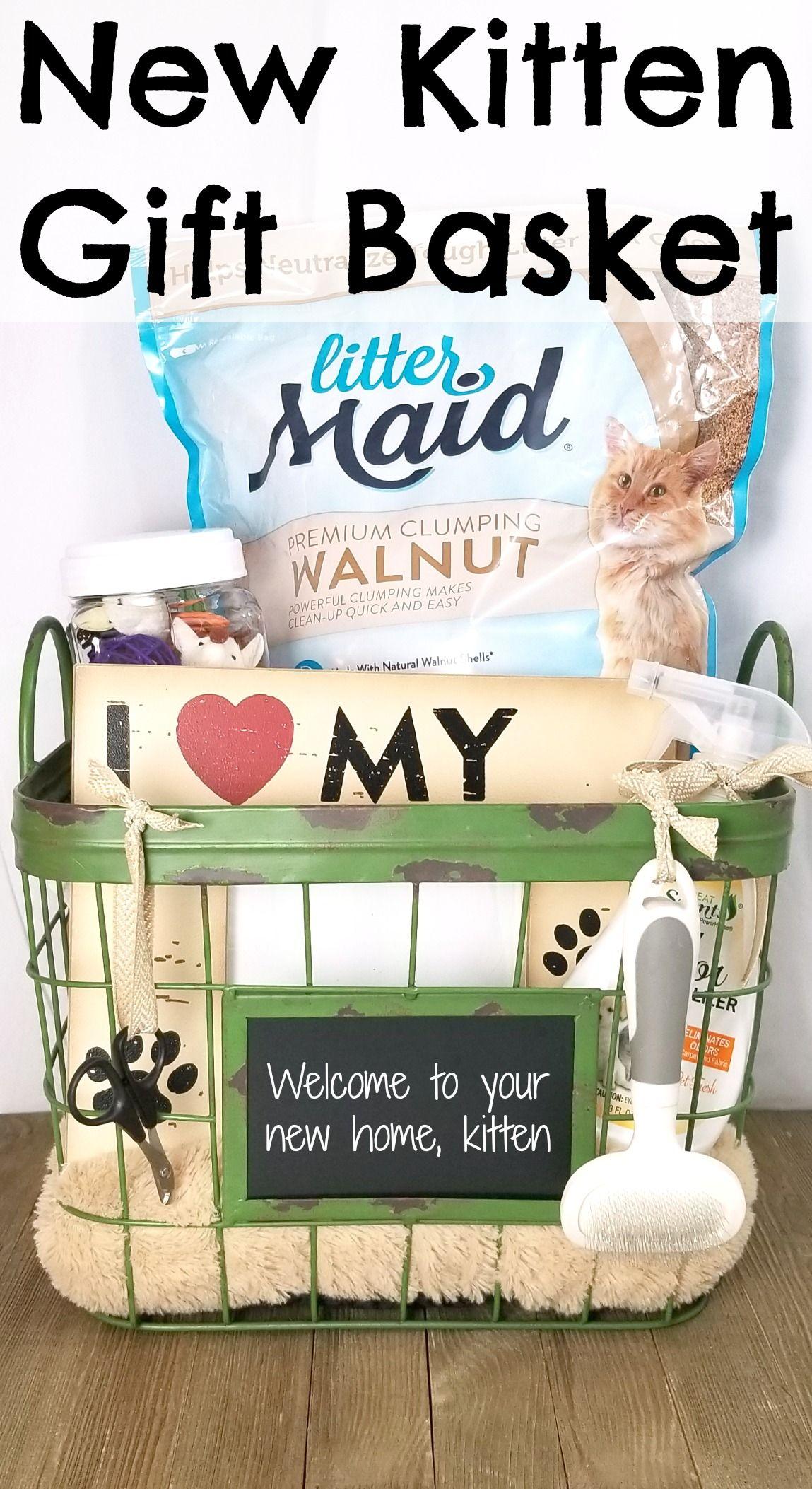 New Kitten Gift Basket Pet Gift Basket Kittens Gifts Dog Gift Basket