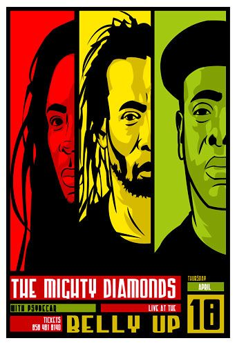 By Scrojo The Mighty Diamonds Poster