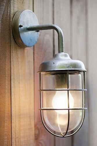 Galvanised outdoor harbour wall light or indoor if you wish