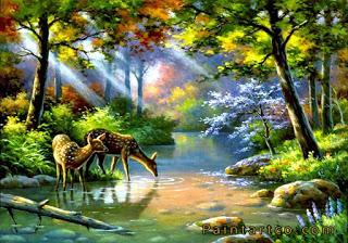 اجمل اللوحات الفنية الطبيعية لوحات فنية زيتية للطبيعة رائعة الجمال لوحات فنية زيتية لمناظر طبيعية بسيطة Landscape Pictures Landscape Paintings Cross Paintings