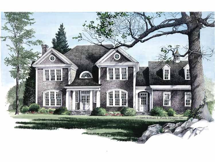 Eplans colonial house plan hamptons 3783 square feet for Dutch colonial garage plans