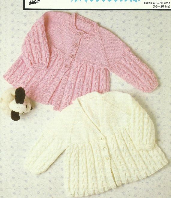 Childrens Matinee Jacket Knitting Pattern Measurements To Fit