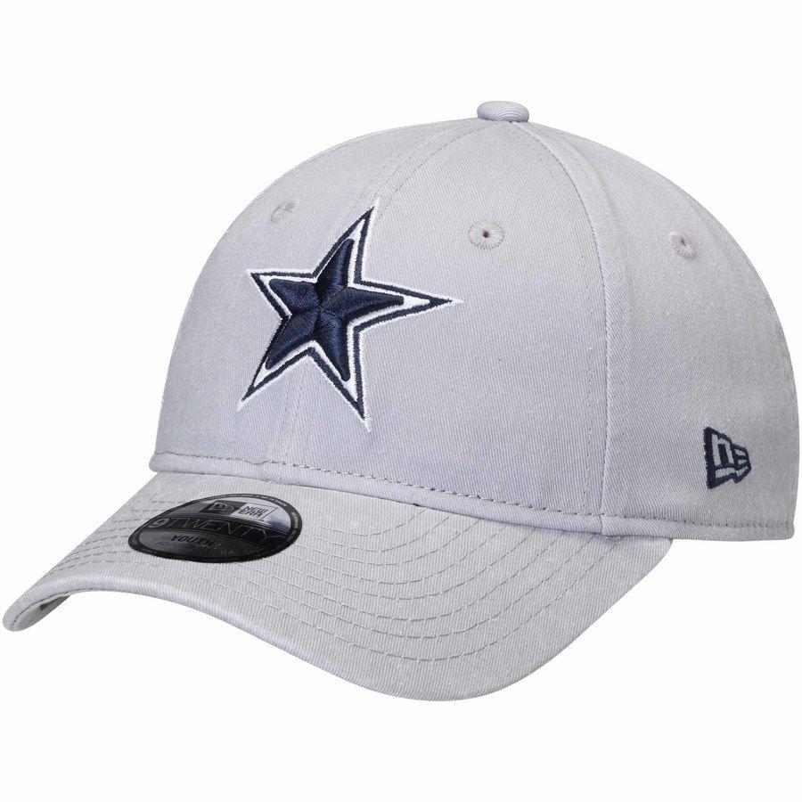 9ac0af0cd9d3d Youth Dallas Cowboys New Era Gray Core Classic 9TWENTY Adjustable ...
