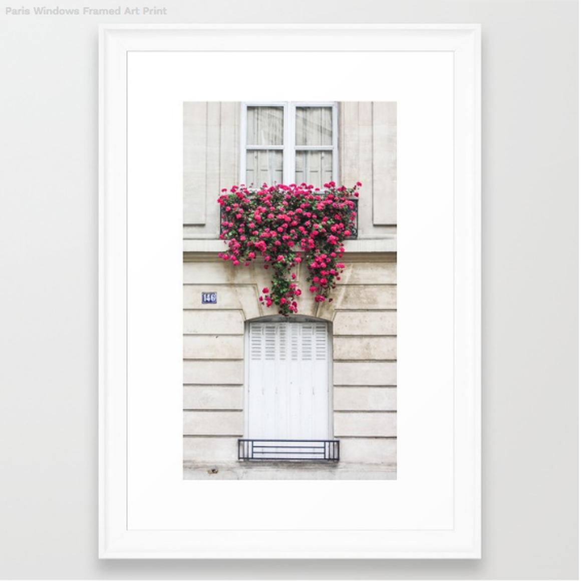 Paris Windows Framed Print, Scoop White Frame, 15 X 21... by Society ...