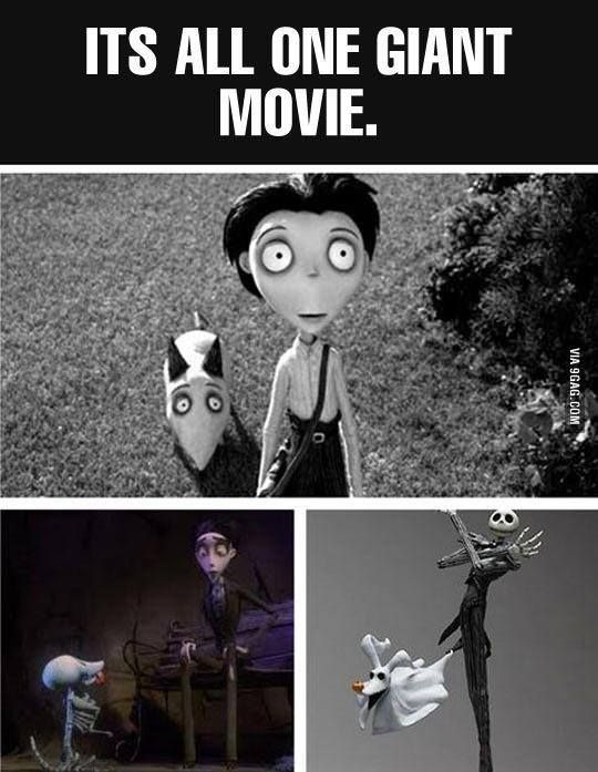 frankenweenie the corpse bride the nightmare before christmas all the same movie - Nightmare Before Christmas Theory
