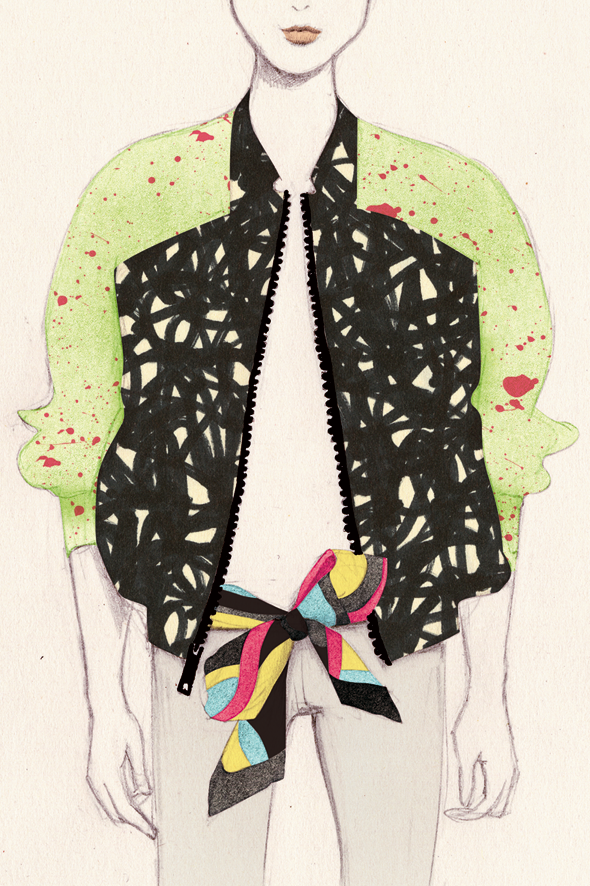 fashion illustration by Denise van Leeuwen