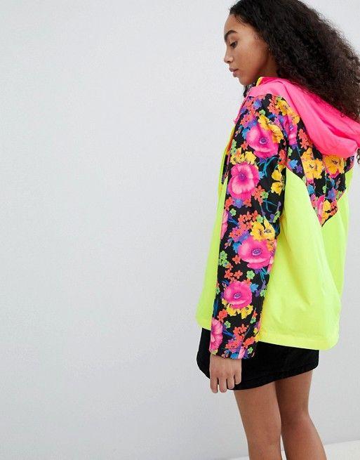 Shopping En Veste Design À Block Color Et Chevrons Fleurs 8zqCwa5C